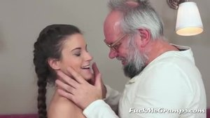 Hardcore, Blowjob, High definition, Grandfather, Brunette, Teen, Young