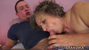 Granny, Cock, Blowjob, Mature, Monster cock, High definition, Grandmother
